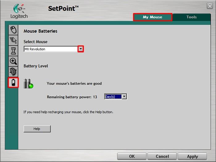 Customizing my MX Revolution mouse with Logitech software (SetPoint