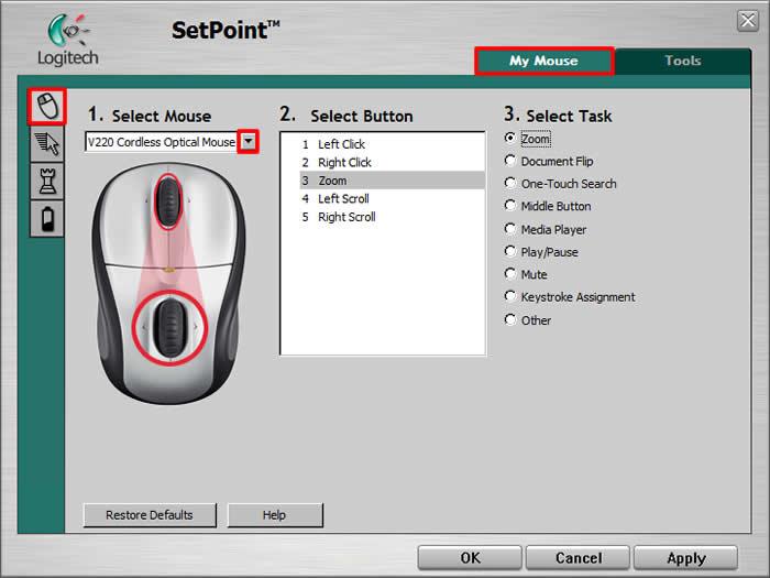 Logitech M-RBS136 Mouse SetPoint Driver FREE