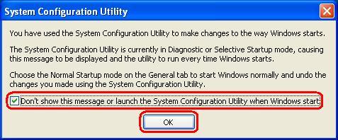 msconfig restart msg 2