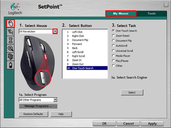 Logitech M-RBU126 Mouse SetPoint Driver