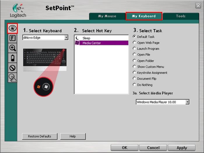 Logitech diNovo Mouse/Keyboard SetPoint Treiber Herunterladen