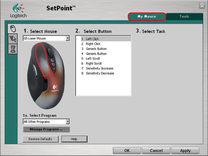 Logitech M-UAH113A Mouse SetPoint Download Drivers