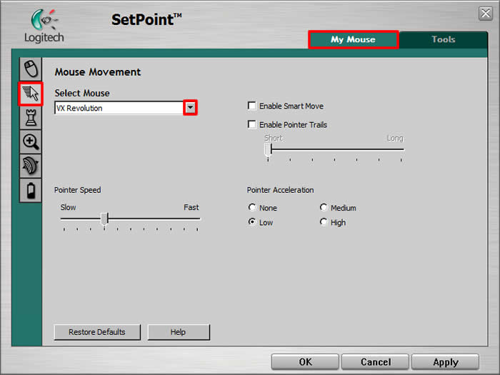 Logitech M-RBU126 Mouse SetPoint Drivers for Windows Download