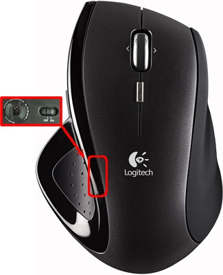 how to turn of logitech mouse lights