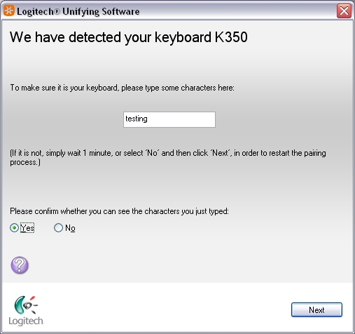 wireless keyboard k350 logitech support