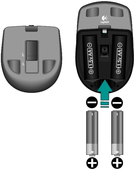 Changing the batteries in my Anywhere Mouse MX
