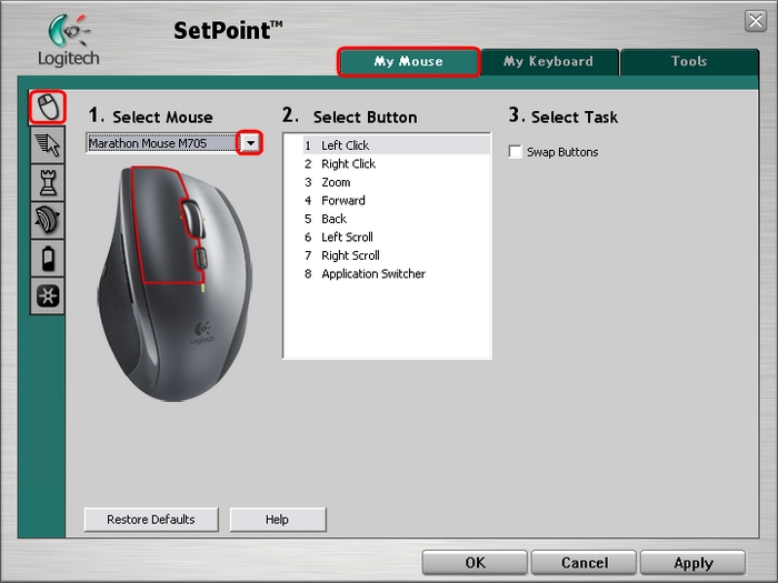 LOGITECH TKM DUKE MOUSE SETPOINT DRIVER WINDOWS XP