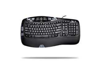 * LOGITECH WAVE BLACK CORDED KEYBOARD USB (till stocks last)